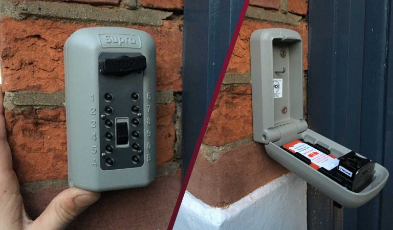 Supra outdoor key safe fitted