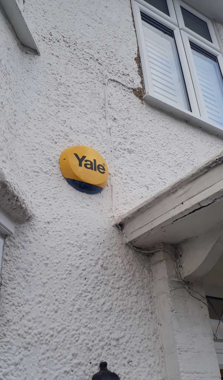Yale smart alarm fitted