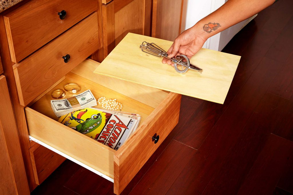 Secret Hiding Places FalseBottomDrawer The Family Handy Man